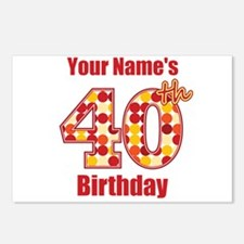 Happy 40th Birthday - Personalized! Postcards (Pac