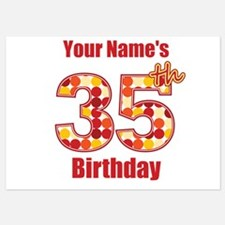 Happy 35th Birthday - Personalized! Flat Cards