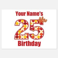Happy 25th Birthday - Personalized! Flat Cards