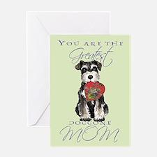 Mini Schnauzer Mom Greeting Card