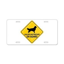 Golden On Board Aluminum License Plate