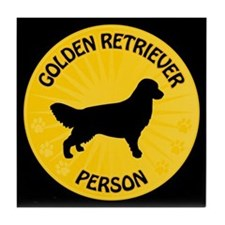 Golden Person Tile Coaster