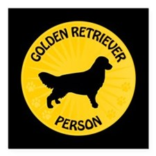"Golden Person Square Car Magnet 3"" x 3"""