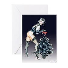 Dominatrix Christmas Greeting Cards (Pk of 10)