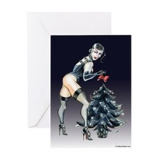Dominatrix Christmas Greeting Card