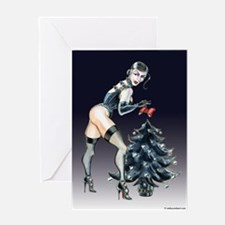 Dominatrix Christmas Greeting Card