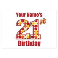 Happy 21st Birthday - Personalized! Flat Cards