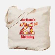 Happy 21st Birthday - Personalized! Tote Bag