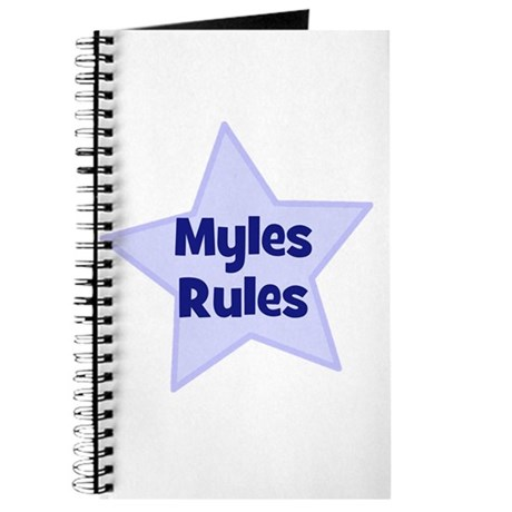 Myles Rules Journal