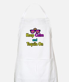 Crown Sunglasses Keep Calm And Tequila On Apron