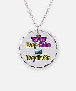 Crown Sunglasses Keep Calm And Tequila On Necklace