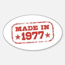 Made In 1977 Decal