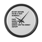 DO NOT DISTURB Large Wall Clock