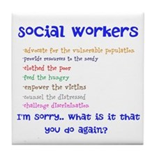 Social Work Tile Coaster