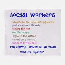 Social Work Throw Blanket