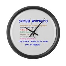 Social Work Large Wall Clock