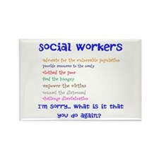 Social Work Rectangle Magnet