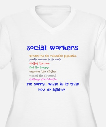 Social Work Plus Size T-Shirt