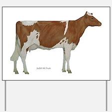 Guernsey Milk Cow Yard Sign