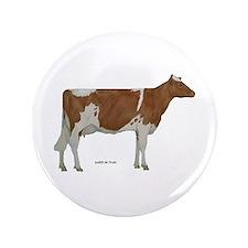 "Guernsey Milk Cow 3.5"" Button (100 pack)"