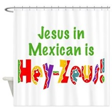 Jesus in Mexican Shower Curtain