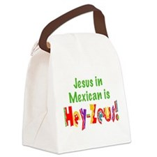 Jesus in Mexican Canvas Lunch Bag