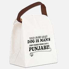 Punjabi Cat designs Canvas Lunch Bag
