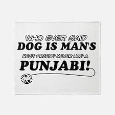 Punjabi Cat designs Throw Blanket