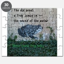 Matsuo basho's frog haiku Puzzle