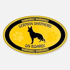 German Shepherd On Board 2 Decal