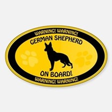 German Shepherd On Board 2 Sticker (Oval)