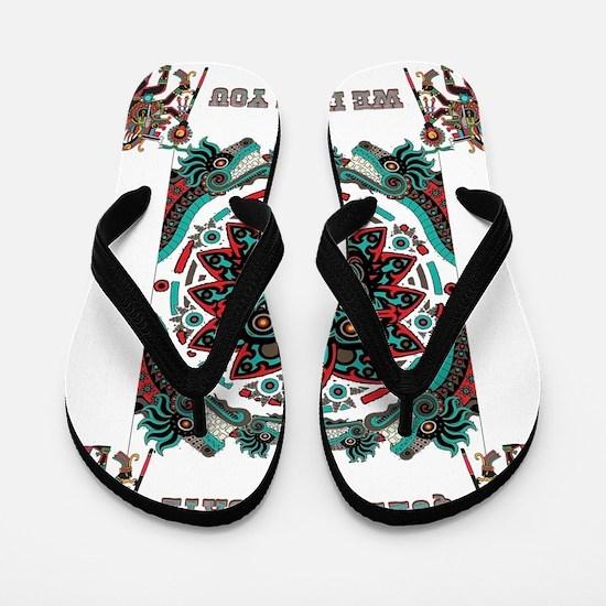 Funny Maya Flip Flops