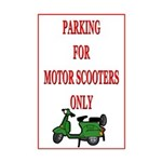 Motor Scooter Parking  Mini Poster Print