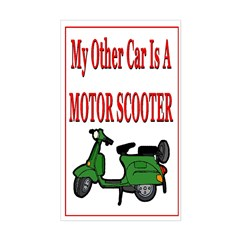 Motor Scooter Rectangle Decal