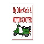 Motor Scooter Rectangle Sticker