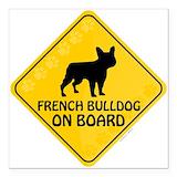 French bulldog Square Car Magnets