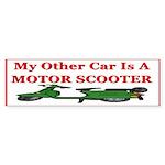 Motor Scooter Bumper Sticker