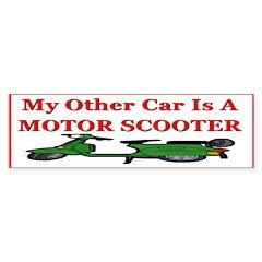 Motor Scooter Bumper Bumper Sticker