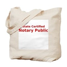 State Certified Notary Public Tote Bag