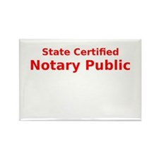 State Certified Notary Public Rectangle Magnet