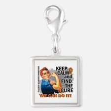 Rosie Keep Calm MS Silver Square Charm