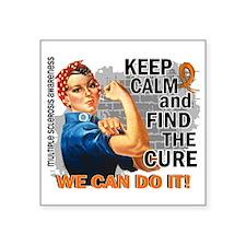 "Rosie Keep Calm MS Square Sticker 3"" x 3"""
