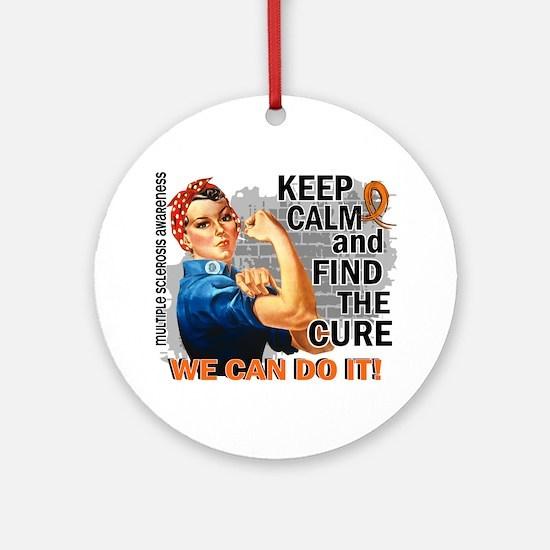 Rosie Keep Calm MS Ornament (Round)