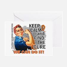 Rosie Keep Calm MS Greeting Card