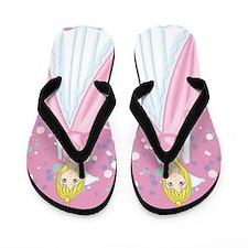 Beautiful Pink Princess Flip Flops
