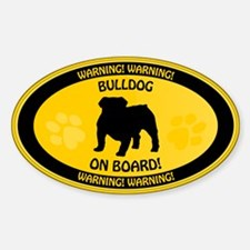 Bulldog On Board 2 Decal