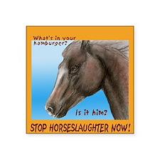 "horse burger Square Sticker 3"" x 3"""
