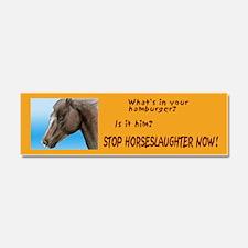 horse burger Car Magnet 10 x 3