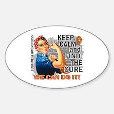 Rosie Keep Calm Leukemia Sticker (Oval)