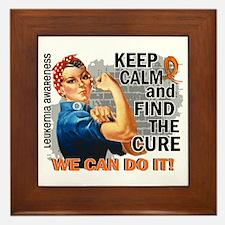 Rosie Keep Calm Leukemia Framed Tile
